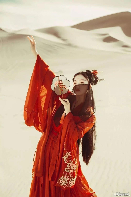【汉服摄影】风来风逝,在金沙中书写了爱情