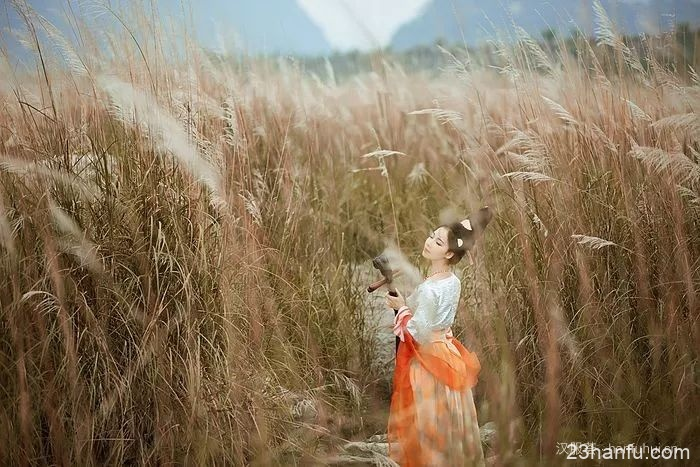 【汉服美景】风吹芦苇荡