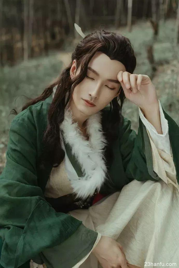 【男生汉服】一袭白衣,三千墨发,公子世无双