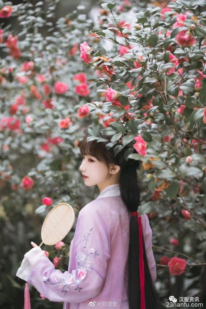 【汉服私影】阶前山茶花