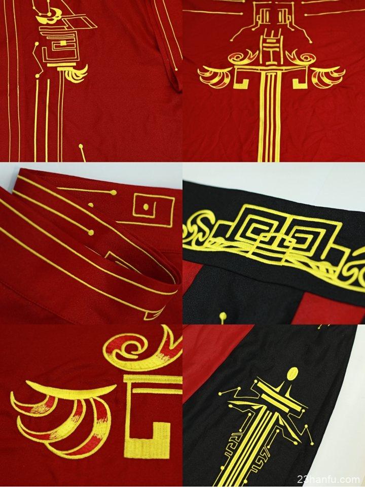【剑星令】静思弦原创汉服 原创设计广袖交领4.5米撞色破裙披风大袖衫男女CP重工刺绣款