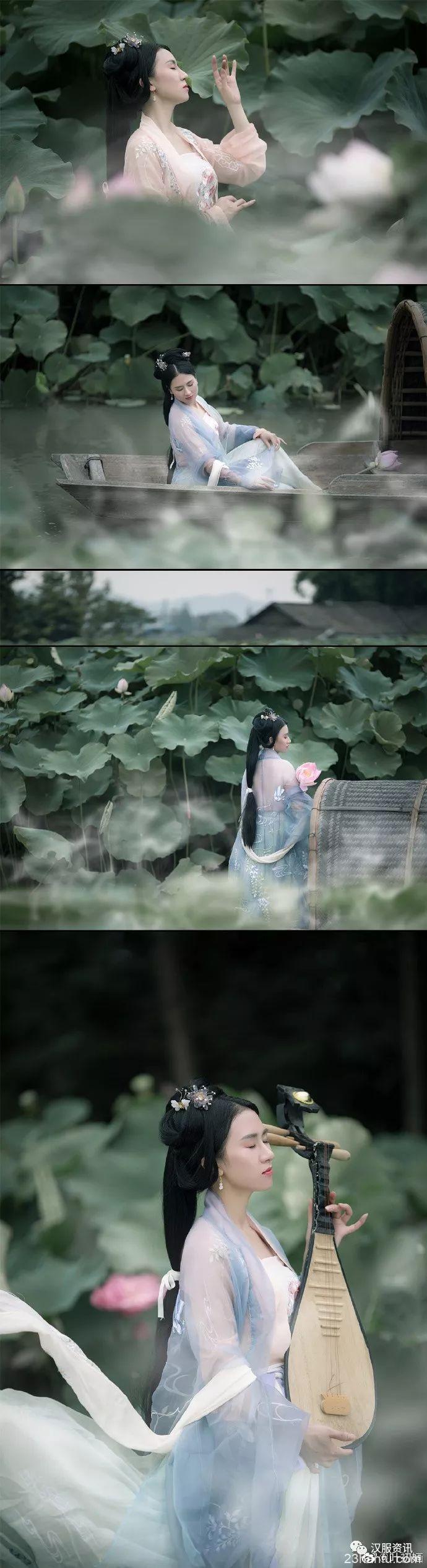 【汉服摄影】菡萏香销翠叶残