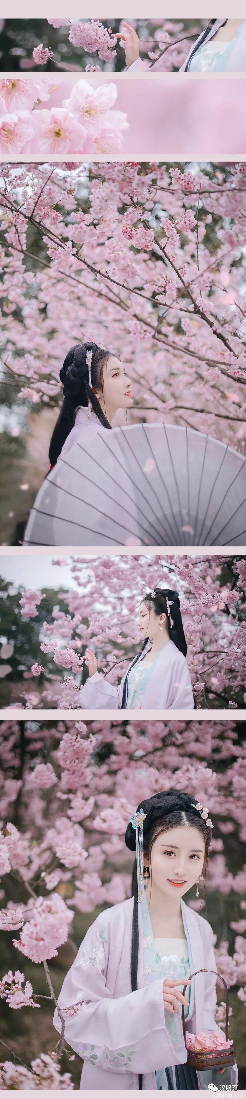 【汉服美景】樱桃花参差,香雨红霏霏