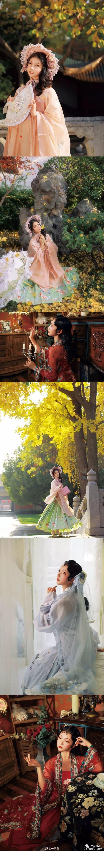 【汉服时尚】黄叶掩于宫墙,艳色燃尽烛黄。