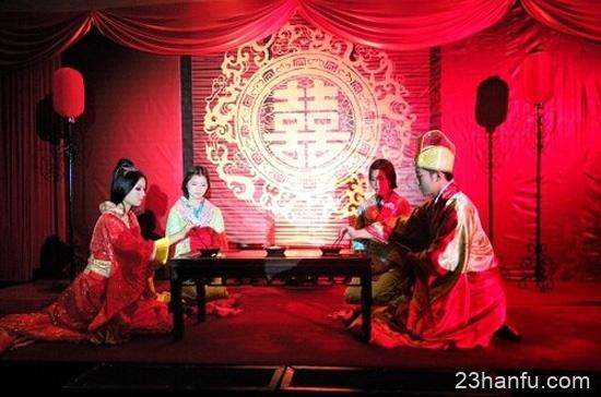 执子之手,与子偕老 美丽而庄严的汉式婚礼-图片1