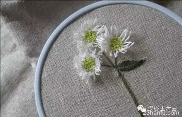 野菊花刺绣教程