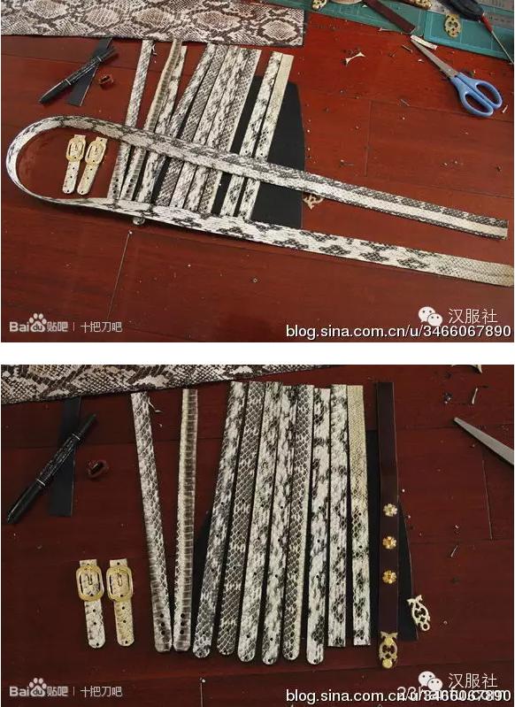 大唐双龙忍冬蹀躞带和白龙银囊~详细图解