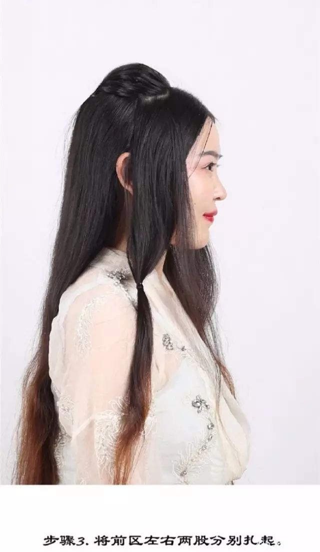 汉服发型—唐风美人云鬓小清新