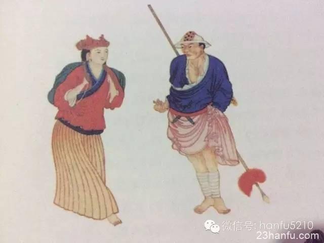 华夏民族服饰起源 原始人的头服与足衣